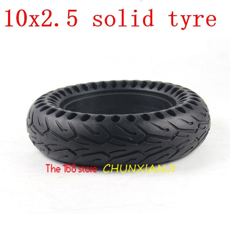 Tamaño 10x2,50 Honeycomb neumático sólido 10*2,5 neumático sin cámara, espesado doble Honeycomb rueda neumático para Scooter Eléctrico patín Junta