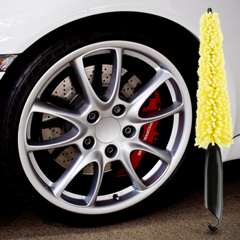 Car Wheel Washing Brush Plastic Handle Vehicle Wheel Rims Tire Cleaning Brush Car Brush Car Washing Sponges Tools image