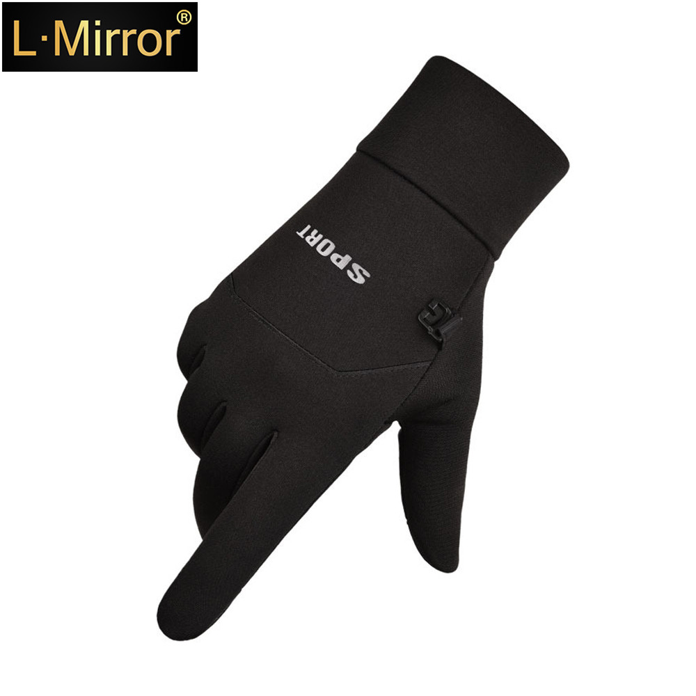 L.Mirror 1Pair Waterproof Polar Sport Touch Screen Smartphone Gloves Fleece Lined Interior For Comfort & Warmth Compatible New