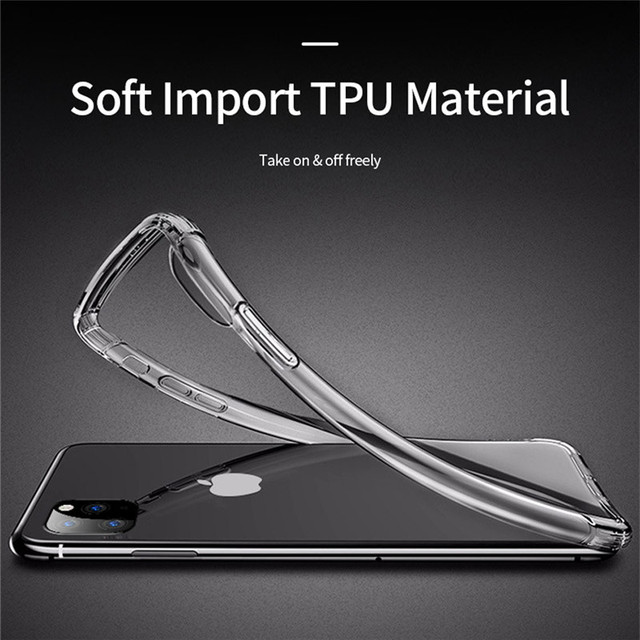 Ultra Thin Clear Case For iPhone 11 12 Pro Max XS Max XR X Soft TPU Silicone For iPhone 5 6 6s 7 8 SE 2020 Back Cover Phone Case 5