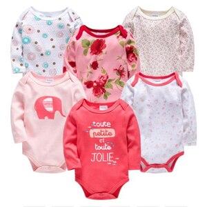 Kavkas nowe dziewczynek body Roupas Bebe De 6 sztuk 3 sztuk 100% bawełna Baby Boy dziewczyna ubrania 0-3 miesięcy noworodka ciało bebe odzież