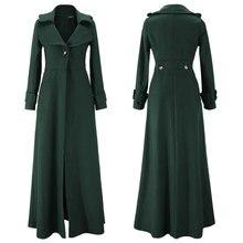 Kış ceket kadınlar sarkaç havalandırma paspaslamak için zemin Overlength fon yün palto rüzgarlık boy uzun siper dış giyim