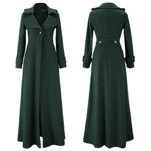 Image 1 - Kış ceket kadınlar sarkaç havalandırma paspaslamak için zemin Overlength fon yün palto rüzgarlık boy uzun siper dış giyim