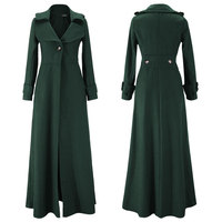 Winter Coat Women Pendulum Vent To Mop The Floor Overlength Fund Woolen Overcoat Windbreaker Coat Oversize Long Trench Outwear