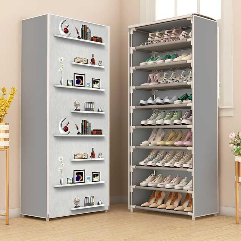 Новинка; Лидер продаж многослойный обувной шкаф для защиты обуви от пыли для хранения просты в установке Экономия пространства стенд держа...