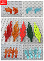 10 штук в партии, кубики MOC пламени перо подходит с 85959 / 6126 / 64647 Строительные блоки игрушки Кирпичи подарок для детей