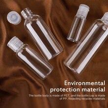 1pc recarregável viagem transparente garrafa de plástico transparente garrafa borboleta tampa maquiagem ferramenta sub-garrafa flip-top garrafa 5/15/20/30/50/100ml