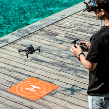 Drone Landing Pad 50cm 65cm su geçirmez katlanabilir park önlüğü Mat zemin tırnak DJI FPV/ Mavic Mini 2/Mavic hava 2/Mavic 2 Pro
