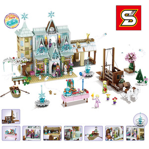 Image 3 - Amigas SY1429 SY1430 SY1431 SY6580 Castillo de la princesa de la nieve Anna Olaf City, tienda de comestibles, bloques de construcción de ladrillos, regalos para niños