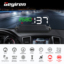 Universal T900 Spiegel Auto HUD Auto Head up display GPS Geschwindigkeit Projektor Überdrehzahl RPM Spannung Sicherheit Alarm Fahren Computer