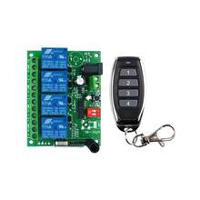 DC 12V 24V 10A 4 channel relay switch RF Wireless Remote Control system Receiver Transmitter 315mhz 433mhz Fan/Motor