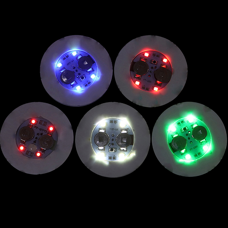 Bottle Stickers Coasters Lights Battery Powered LED Party Drink Cup Mat Christmas Vase New Year Halloween Decoration Lights