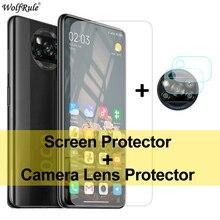 2PCS Protezione Dello Schermo Per Xiaomi Poco X3 Vetro Mi A2 Lite A3 9 5 6X Vetro Temperato di Protezione Del Telefono pellicola della macchina fotografica Per Poco X3 NFC