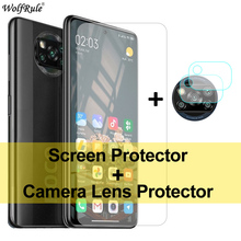 2PCS מסך מגן עבור Xiaomi Poco X3 זכוכית Mi A2 לייט A3 9 5 6X מזג זכוכית מגן טלפון מצלמה סרט עבור Poco X3 NFC
