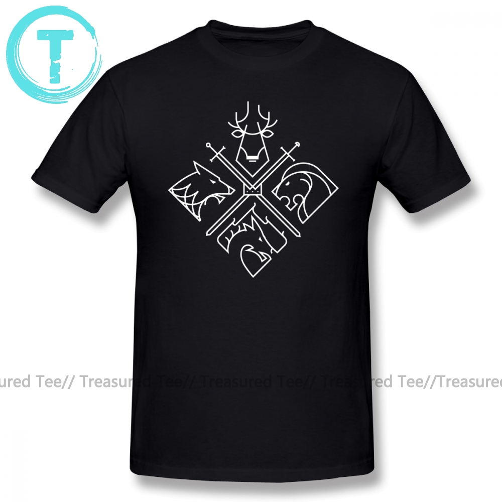 Game Of Thrones T Shirt Houses T-Shirt Cute Fashion Tee Plus size Short Sleeves 100 Percent Cotton Tshirt