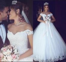 Lace appliques 2019 robe de mariee vestido noiva Wedding Dresses Sweetheart Ball Gown Bridal gown Vintage Cheap dress