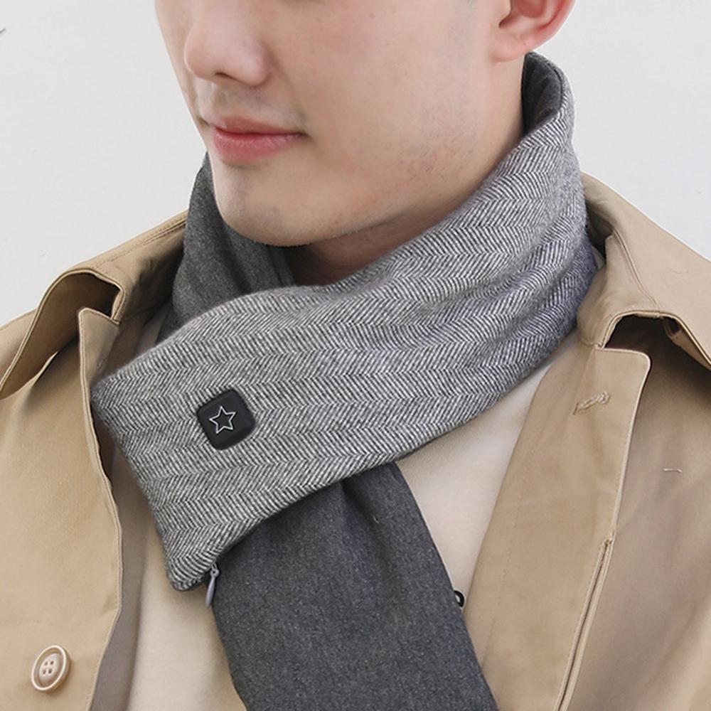 Новинка USB с подогревом мужчины зима шарф шаль внешняя торговля женщины умный с подогревом однотонный цвет вибрация массаж шарф несколько цвета
