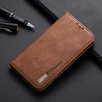 AMMYKI Hot New metal button texture Wallet style flip Pu leather phone back cover 6.4'For Oppo Reno Z case