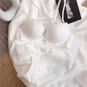 Image 3 - 快適な厚み綿ブラジャー刺繍ブラジャー下着セットセクシーな BCD カッププラスサイズのブラジャーセット女性のランジェリースーツ