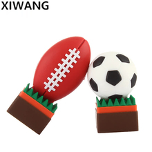 hot rugby usb flash drive 64GB USB2.0 8GB flash memory stick 4GB 16GB portable usb stick 32GB high speed football fashion gift цена