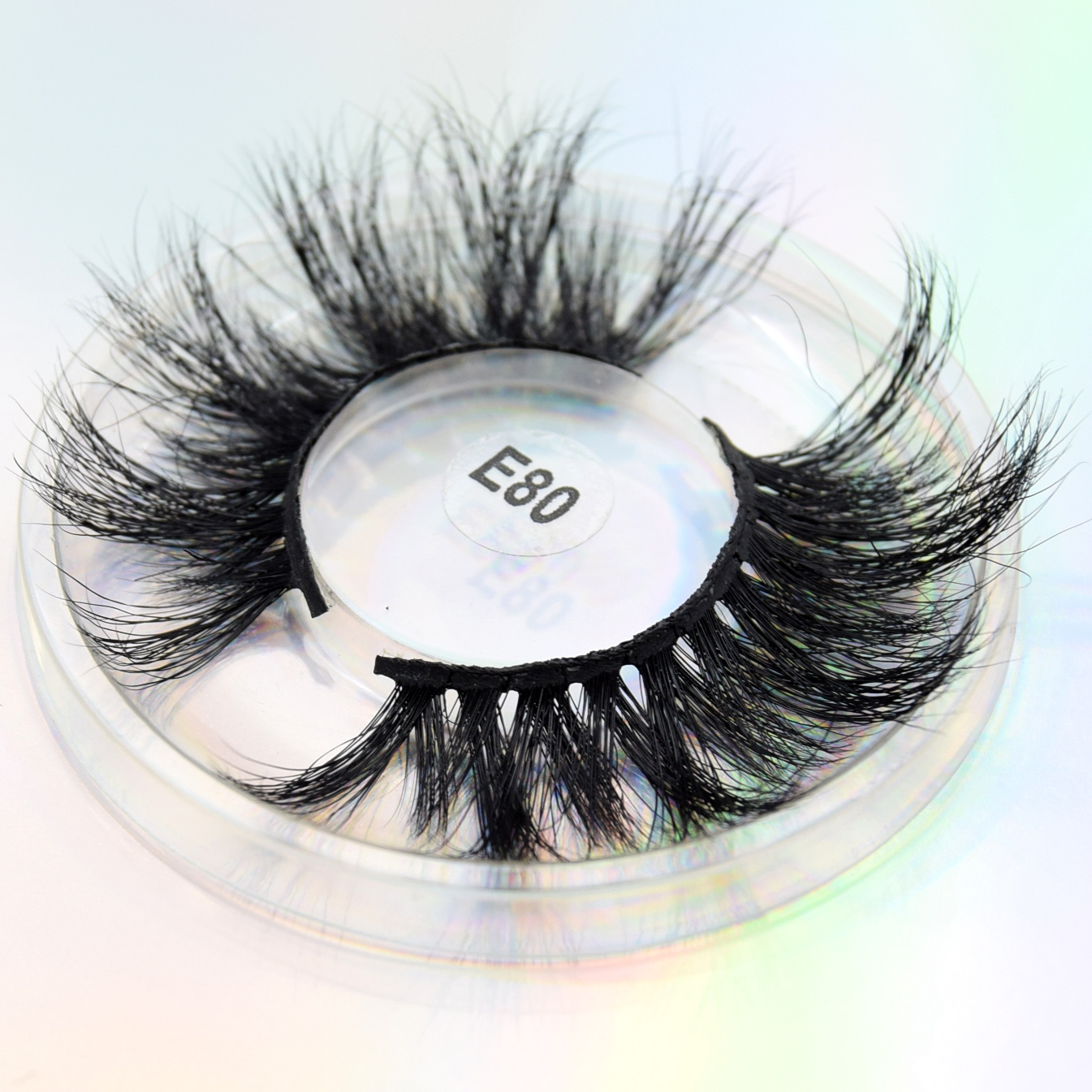 Visofree 3D Eyelashes 25mm Lashes Dramatic Volume Eyelashes Crisscross False Eyelashes Cruelty Free Real Mink Eyelashes Makeup