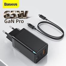 Baseus 65W GaN ładowarka USB szybkie ładowanie 4.0 QC3.0 PD szybkie ładowanie typu C ładowarka dla iPhone 12 Pro Samsung Xiaomi Macbook iPad