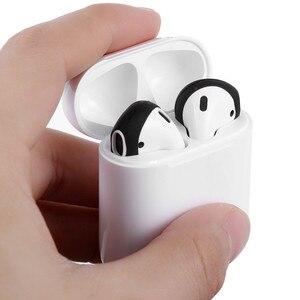 Image 5 - Funda de silicona para auriculares, 2 /1 pares, suave, ultrafina, antideslizante, para Apple, AirPods