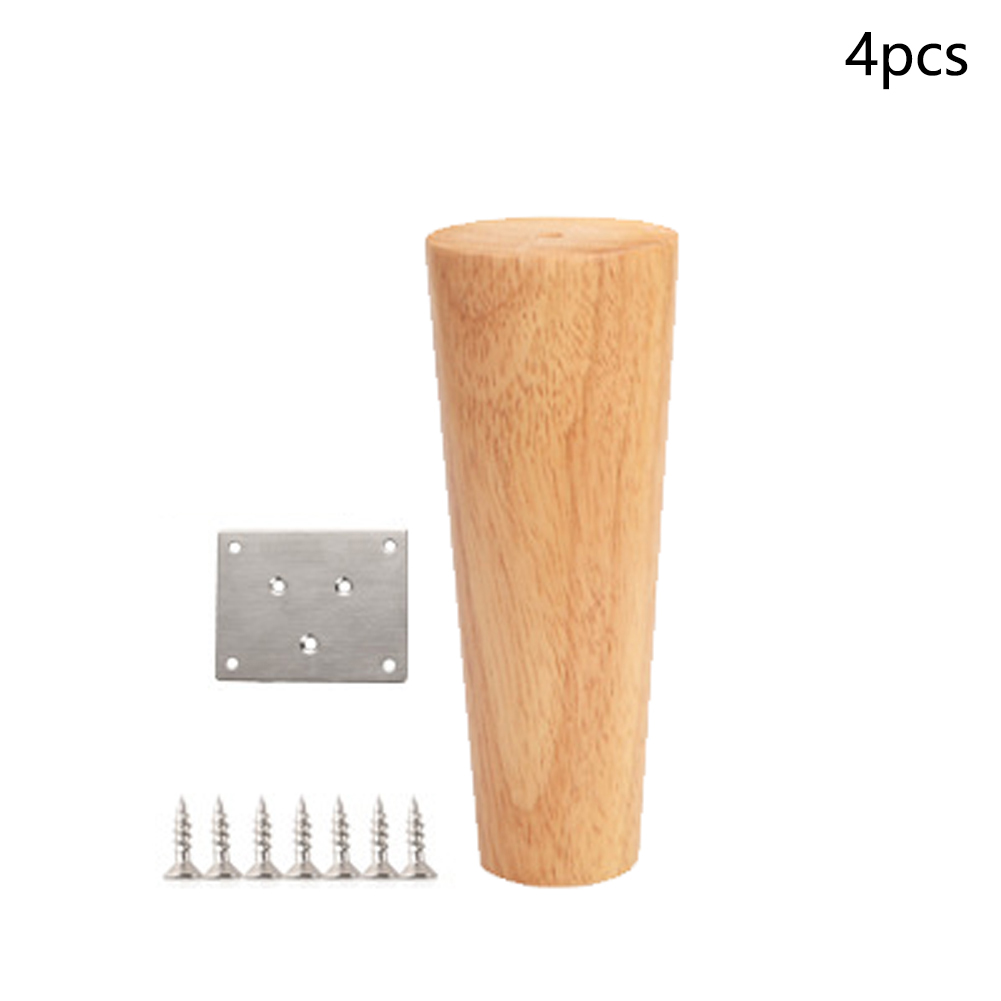 4Pcs Wooden Stool Non Slip Solid Furniture Chair Accessories Parts TV Sofa Legs Cabinet Coffee Table Feet