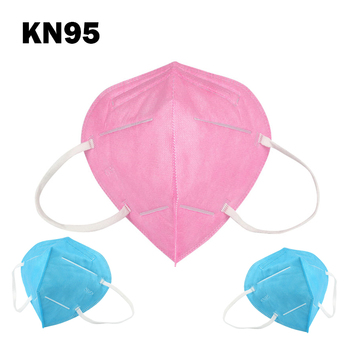 NEW pink blue protective face mask 5-layers protection dust mask Respirator anti-pollution equal to close to masks image
