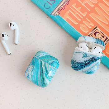 Blue Sea Case For Apple AirPods 2 Pro 1 Marble Cute Earphone Cases Cover for Airpods Pro 3 Shell Soft Air Pods Protective Case 3d lucky rat cartoon bluetooth earphone case for airpods pro cute accessories protective cover for apple air pods 3 silicone