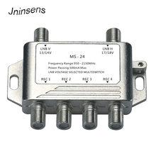 2 in 4 DiSEqC 4x1 DiSEqC Switch Switch Satellitare Antenna piatto LNB per il Ricevitore TV