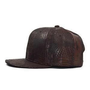 Image 2 - 2020 New Summer Baseball Cap PU Caps Snapback Summer Hip Hop Fitted Cap Hats For Men Women Gorras Mujer Chapeau H07