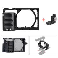 For Sony A6000 A6300 A6500 NEX7 Video Camera Cage + Hand Grip Kit Film Making System with Cable Clamp