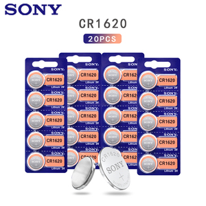 20Pcs/Lot Sony Original cr1620 Button Cell Batteries For Watch 3V Lithium Battery CR 1620 BR1620 Remote Control Calculator