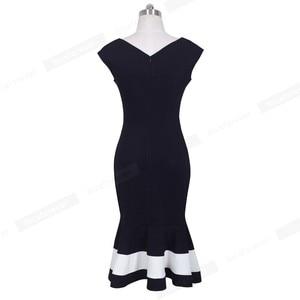 Image 2 - נחמד לנצח בציר טלאים אלגנטיים בת ים vestidos המפלגה עסקי Bodycon נשים שמלת B221