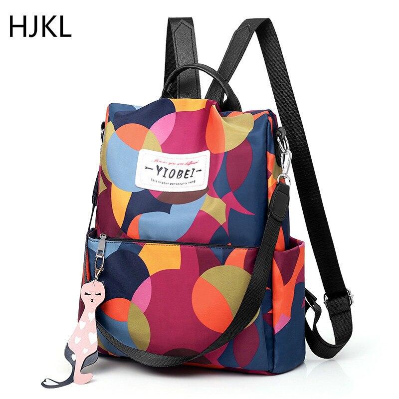 Women School Bag Fashion Waterproof Oxford Anti-theft Backpack High Quality Multifunctional Travel Bags Bagpack Plecak For Girls