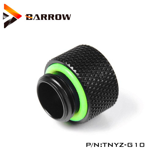 "10mm TNYZ-G10 Barrow G1//4/"" Male to Female Extender Fitting Silver"