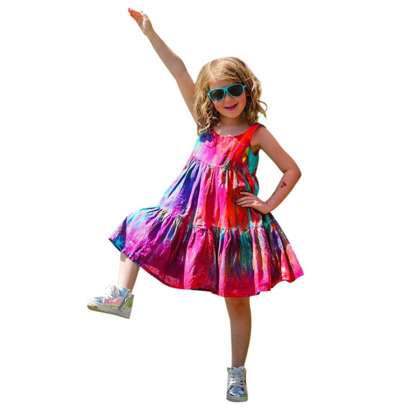 Summer Party Girls Dress Princess Costume Kids Dresses For Girls Holiday Gifts Children Boutique Beach Clothing Wear 2-6 Years 1
