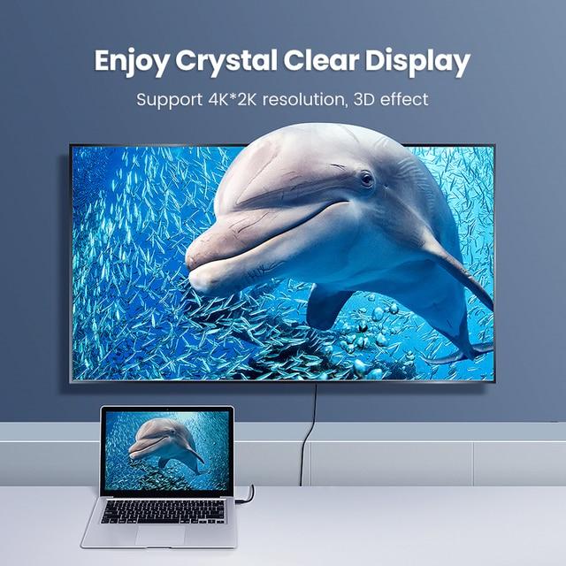 Ugreen Micro HDMI Adapter HD4K Micro Mini HDMI Male to HDMI Female Cable Connector Converter for Raspberry Pi 4 GoPro HDMI Micro 3