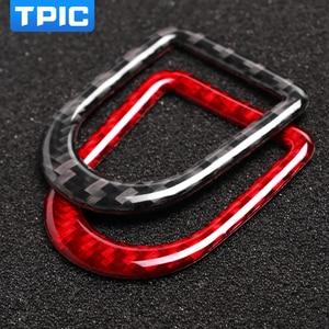 Image 2 - TPIC Für Ford Mustang 2009 2013 Carbon Faser Aufkleber Auto Türschloss Pin Taste Knob Rahmen Abdeckung Trim Auto styling Zubehör