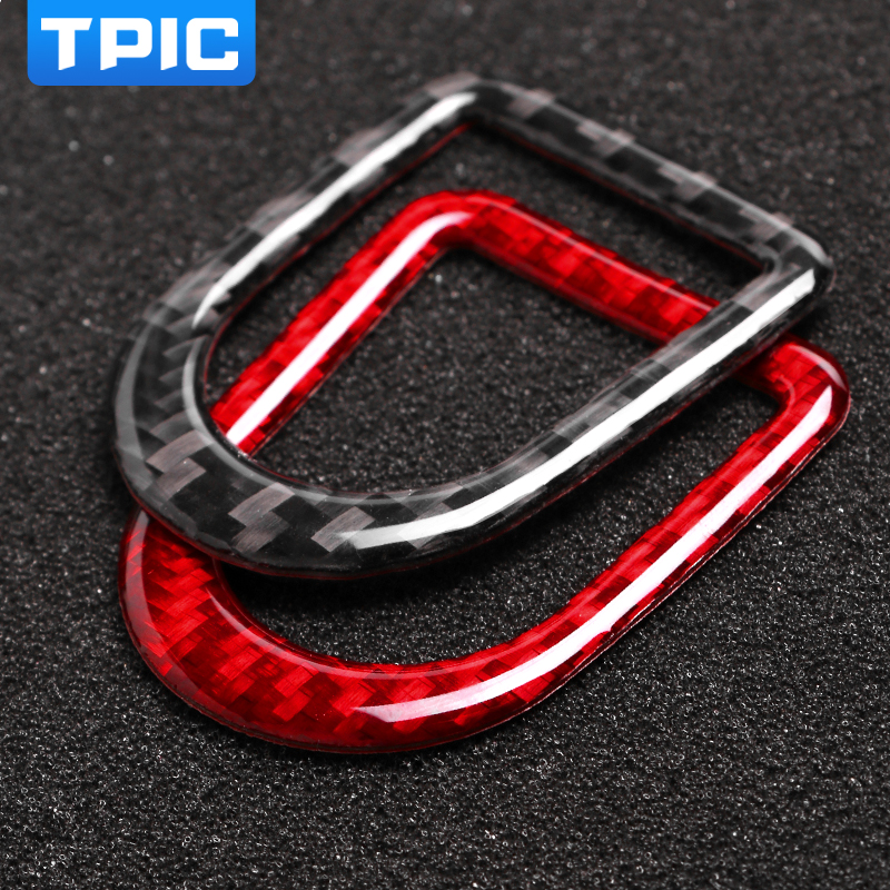 Image 2 - TPIC For Ford Mustang 2009 2013 Carbon Fiber Stickers Car Door Lock Pin Button Knob Frame Cover Trim Car Styling Accessories-in Car Stickers from Automobiles & Motorcycles