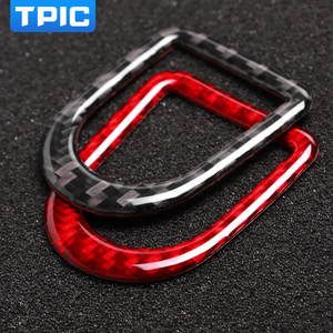 Image 2 - TPIC For Ford Mustang 2009 2013 Carbon Fiber Stickers Car Door Lock Pin Button Knob Frame Cover Trim Car Styling Accessories
