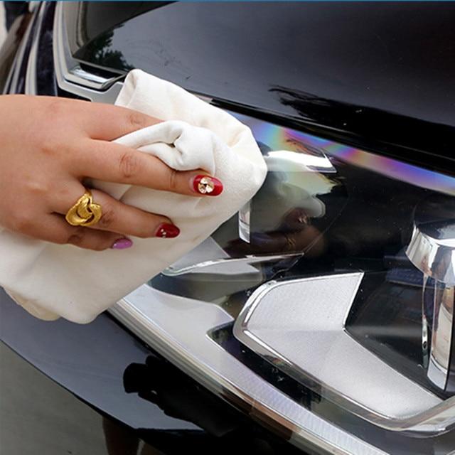 Naturale di Pelle di Daino Lavaggio Auto Panno di Pulizia del Cuoio Genuino della Pelle Scamosciata Assorbente Asciugamano Asciutto Rapido Streak Lint 6 Size 3