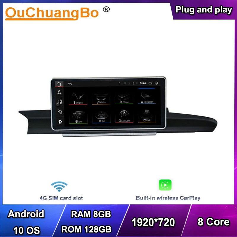 Автомагнитола Ouchuangbo, 4G, GPS, аудио, Android 10, для 10,25 дюймового Audi A6 S6 A7 C7 RS7 RS6 S7 2012-2018 с 1920*720 8 ядерным 8 Гб 128 ГБ