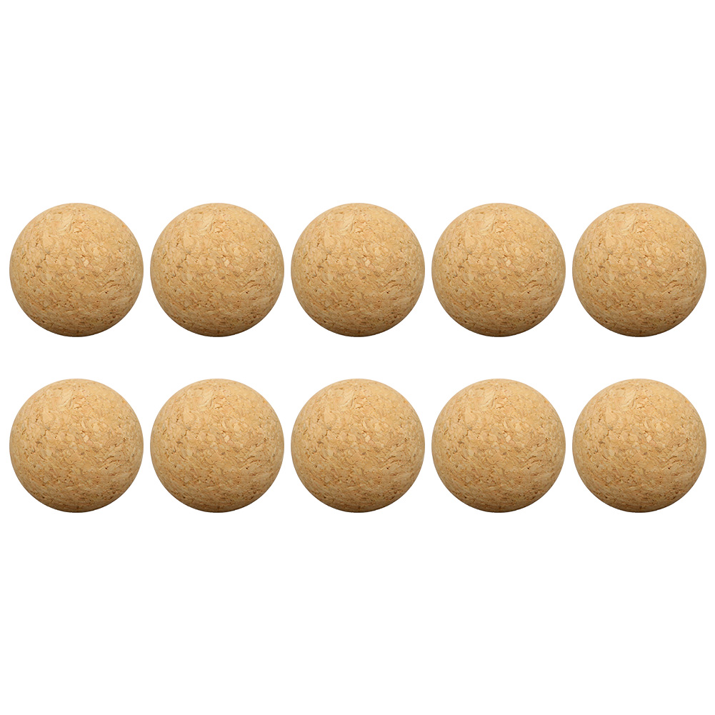 10pcs Solid Baby Table Soccer Portable Home Replacement Indoor Football Desktop Accessories Wooden 36mm Game Mini Balls image