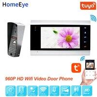 HomeEye WiFi IP Video Door Phone Video Intercom System 960P Tuya Smart Life App Remote Unlock Motion Detection Access Control