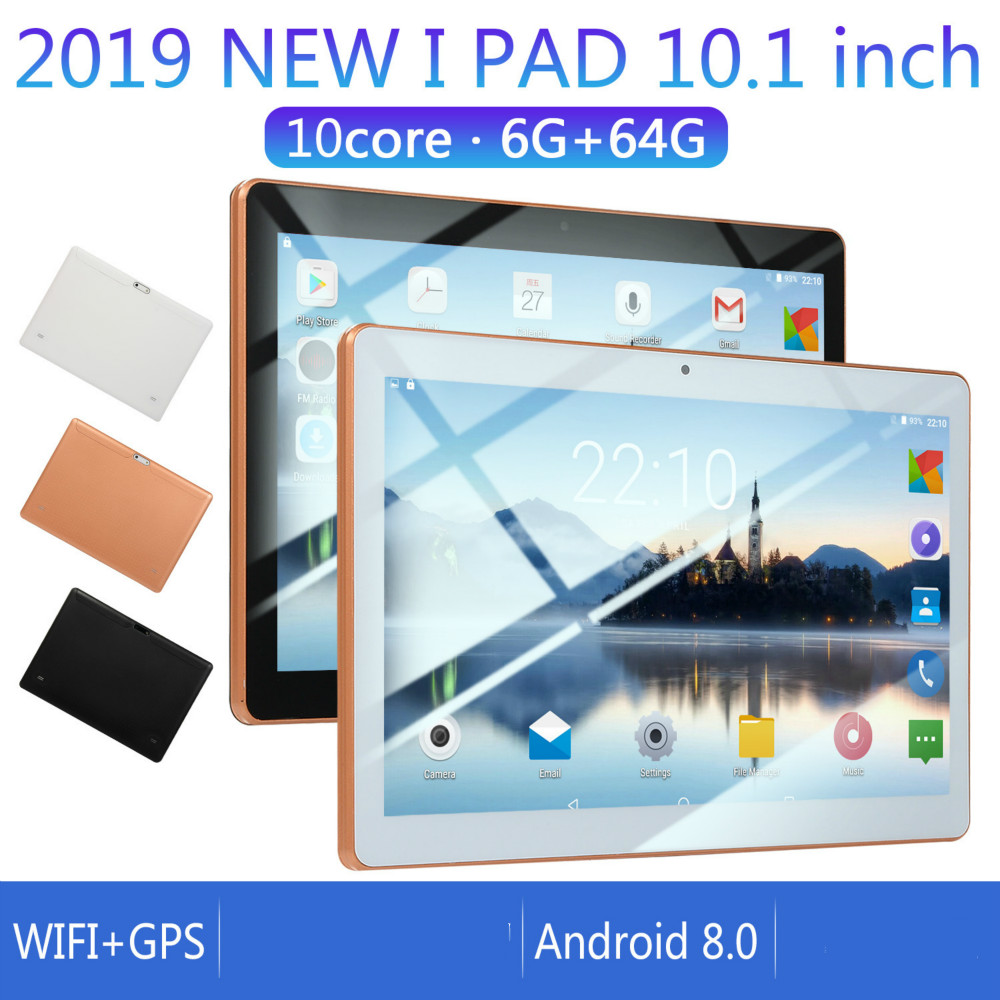 2020 Hot Sole New 10 Inch Android 8.0 Tablet Double Card Dual Standby 6G+128GB Large Memory Smart Tablet  4G Phone Tablet PC