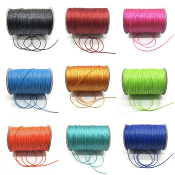 10 Meter/Lot 1.0mm Waxed Cord Thread String Strap Necklace Rope Bead For Jewelry Making DIY Bracelet Necklace image