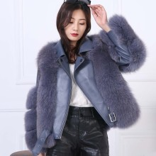 Real  Natural Fox  Fur Coat Female Women Fur Coat  White  Winter Parkas   Women's Winter Jacket Female Jacket 2020