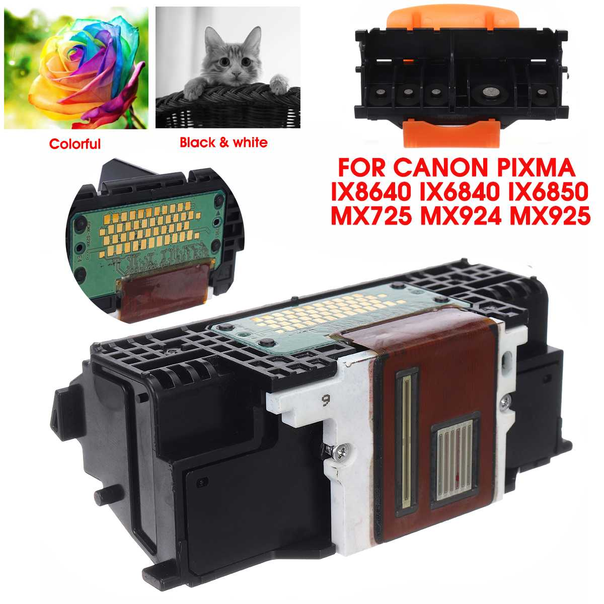 LEORY QY6-0086-000 Printer Print Head Printhead Printer Parts Accessories For Canon Pixma iX8640 iX6840 iX6850 MX725 MX924 MX925